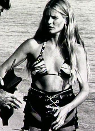 Susan Backlinie in stunt gear.